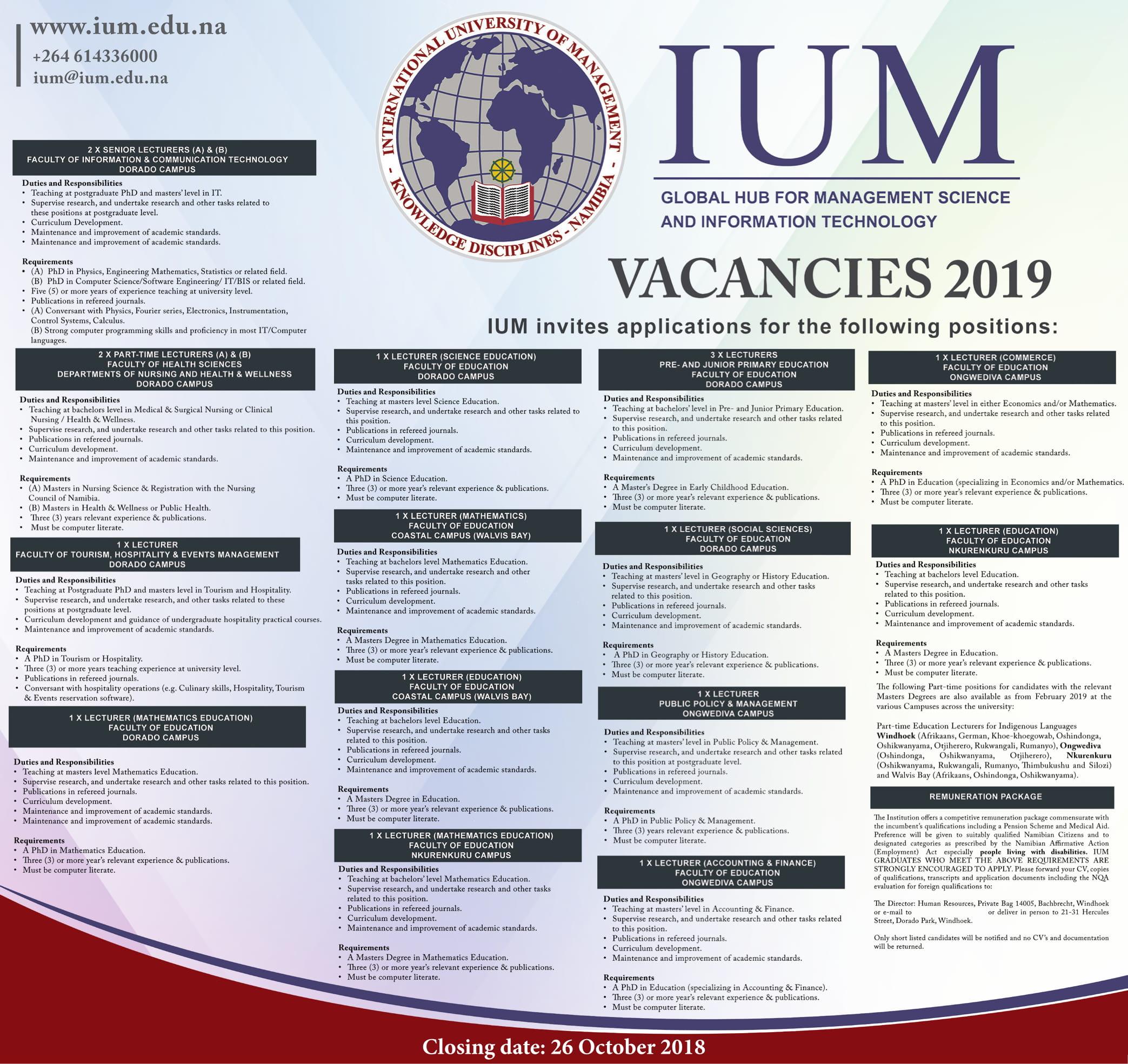 Lecturer Vacancy Ethiopia 2018