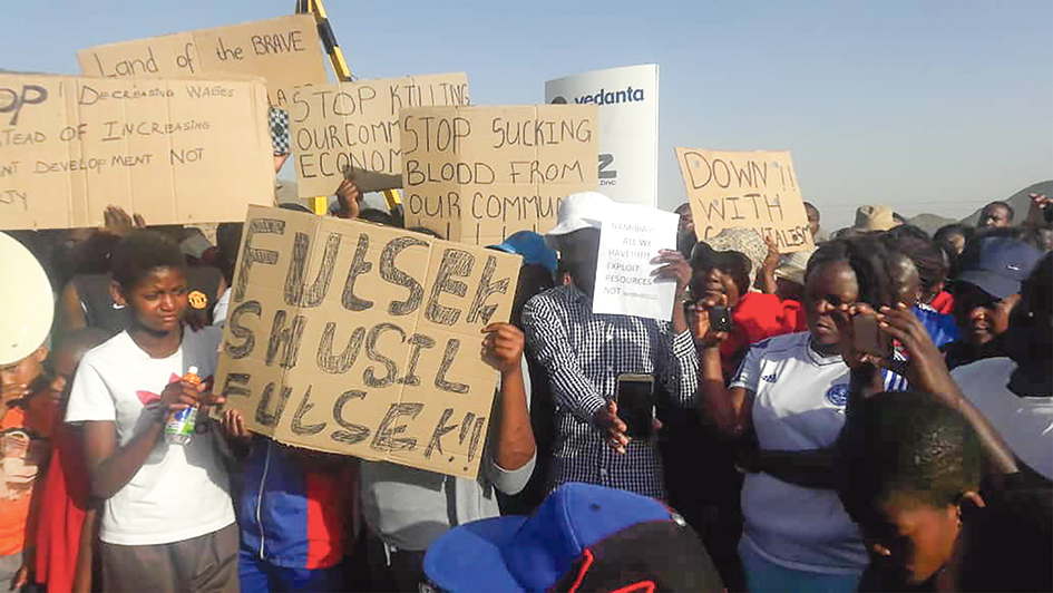 Skorpion Zinc workers up in arms